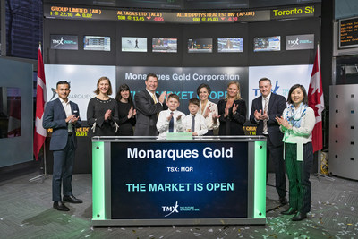 Monarques Gold Corporation Opens the Market (CNW Group/TMX Group Limited)
