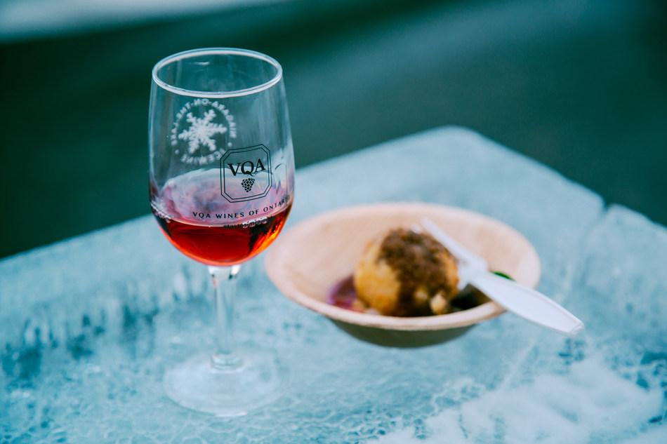 VQA Icewine & food pairing at the Niagara-on-the-Lake Icewine Festival (CNW Group/Wine Marketing Association of Ontario)