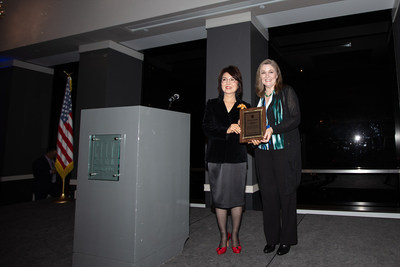 From left to right, Dr. Laura Jeon, President of Korean American Federation of Los Angeles; Elise Buik, President and CEO of United Way of Greater Los Angeles