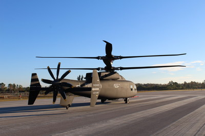 Sikorsky and Boeing provided the first look at the new SB>1 DEFIANT™ helicopter. The helicopter is one of two designs participating in the U.S. Army's Joint Multi-Role-Medium Technology Demonstrator Program. Courtesy Sikorsky-Boeing Team.