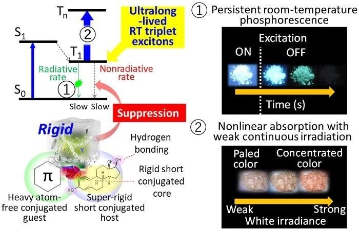 Molecular materials with ultralong-lived RT triplet excitons and their function (PRNewsfoto/University of Electro-Comm)