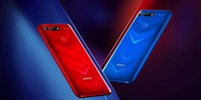 O View20 nas cores Phantom Red e Phantom Blue (PRNewsfoto/HONOR)