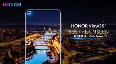 Convite para o lançamento do View20 em Paris (PRNewsfoto/HONOR)