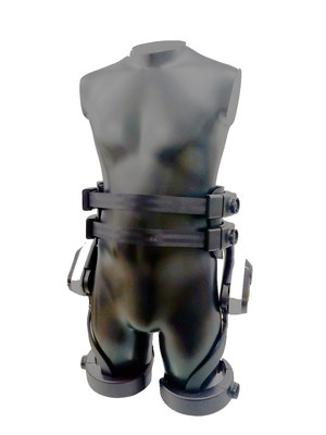 SuitBot increases the user's flexibility by enabling 50-degree extension and 90-degree flexion of the waist and activates when the wearer bends at a 65-degree angle, disengaging when standing in an upright position. (CNW Group/LG Electronics, Inc.)