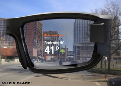 Vuzix Blade and AccuWeather