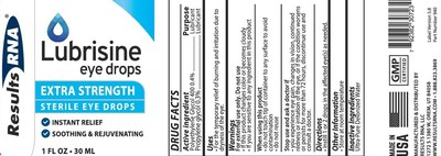 Lubrisine Eye Drops Label