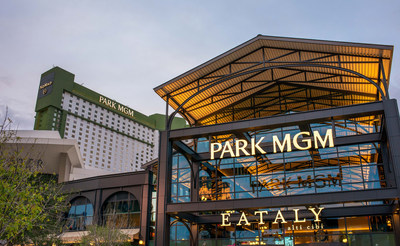Exterior of Park MGM, a new luxury resort in the heart of the Las Vegas Strip