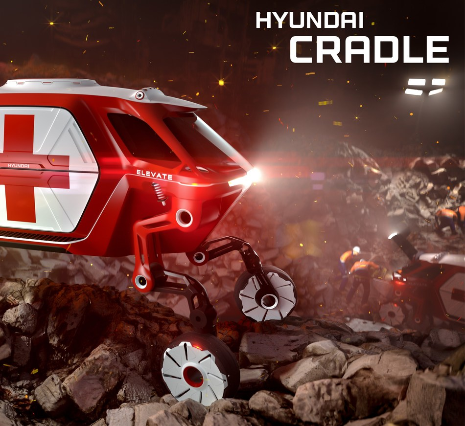 Innovative Hyundai 'Elevate' Walking Car Concept Creates a New Vehicle Category, the UMV, Ultimate Mobility Vehicle