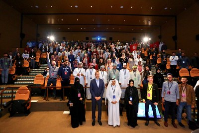 A group photo of all the participants of the Arab Innovation Academy 2019. (PRNewsfoto/Qatar Science & Technology Park)