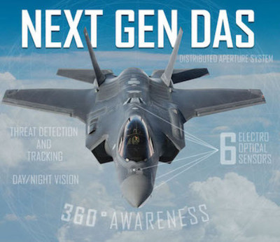 Next Gen DAS on the F-35 with new infrared technology