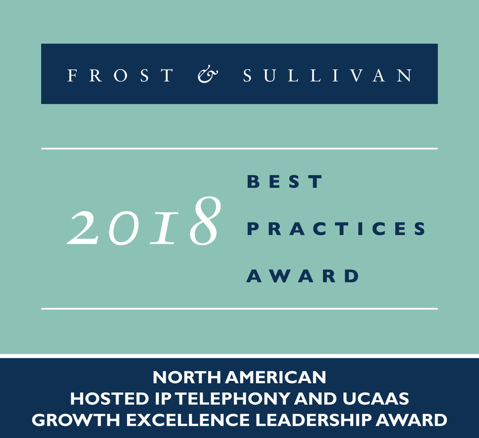 2018 North American Hosted IP Telephony and UCaaS Growth Excellence Leadership Award