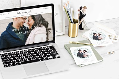 Shop over 200 invites and matching wedding websites