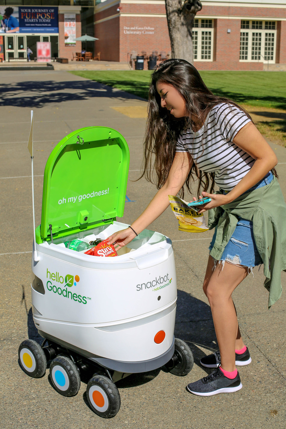 PepsiCo's Hello Goodness snackbot launches today at University of the Pacific