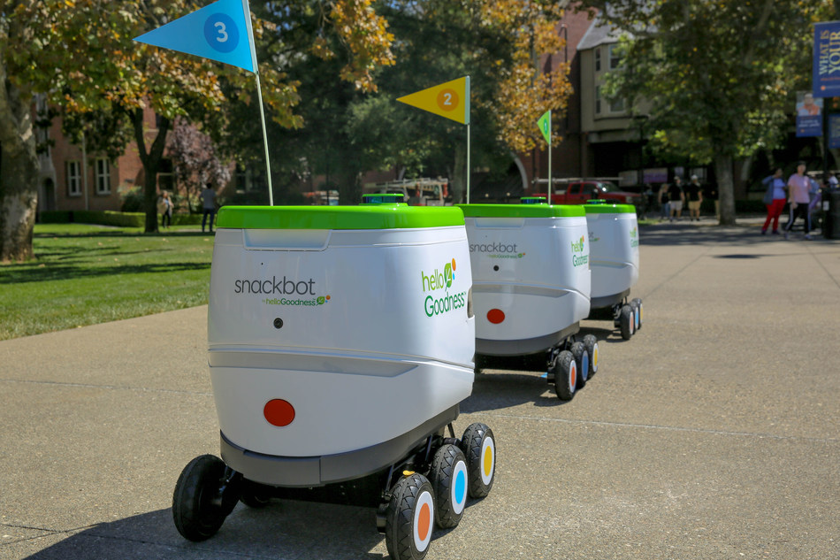 PepsiCo's fleet of Hello Goodness snackbots are the first robots from a major food and beverage company in the United States to roll out, bringing great-tasting, healthier snacks and beverages direct to students.
