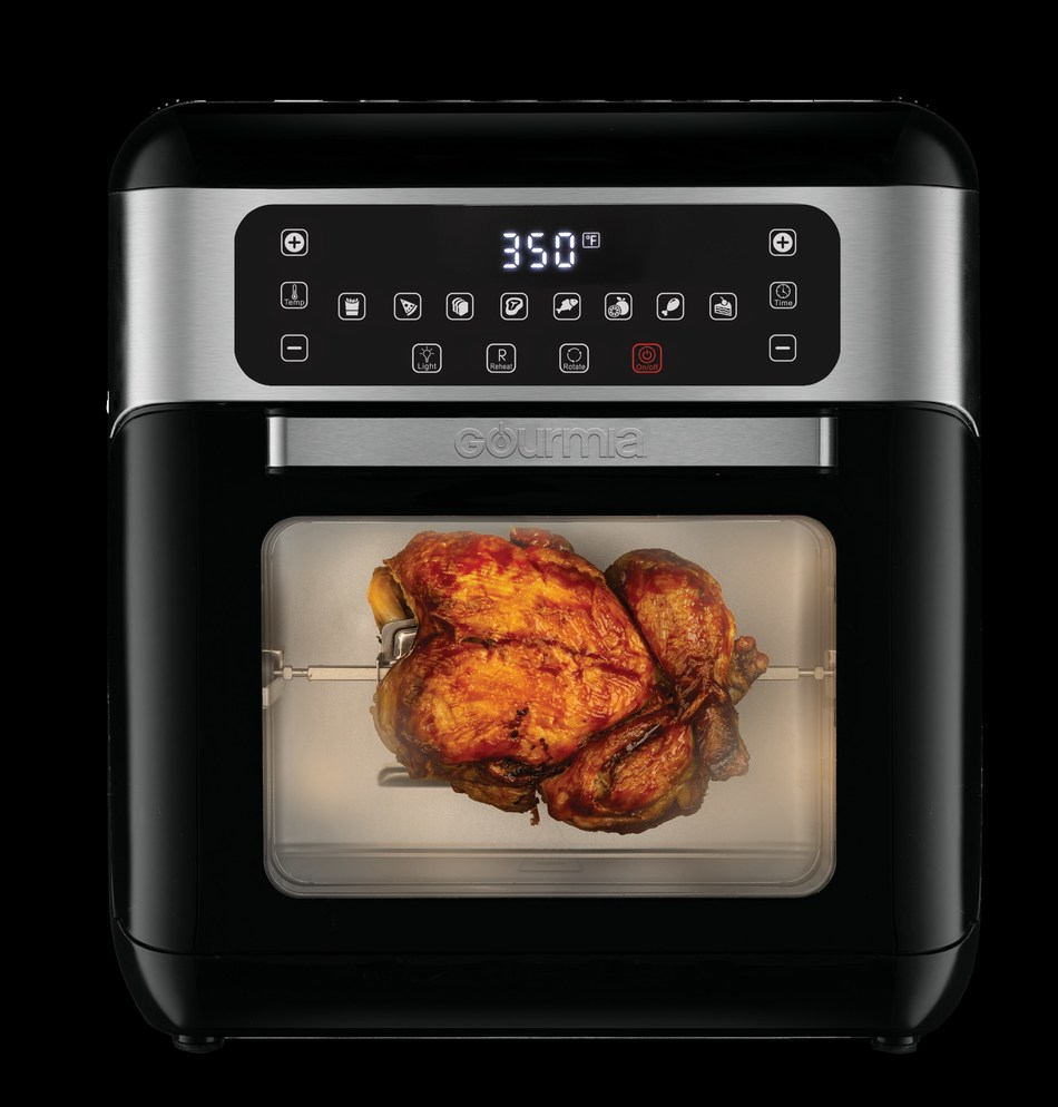 Gourmia's new GAF678 digital all-in-one air fryer also works as rotisserie and dehydrator. It can be controlled with the company's mobile kitchen app and any iOS or Android device, and is compatible with Google Assistant and Amazon Alexa.