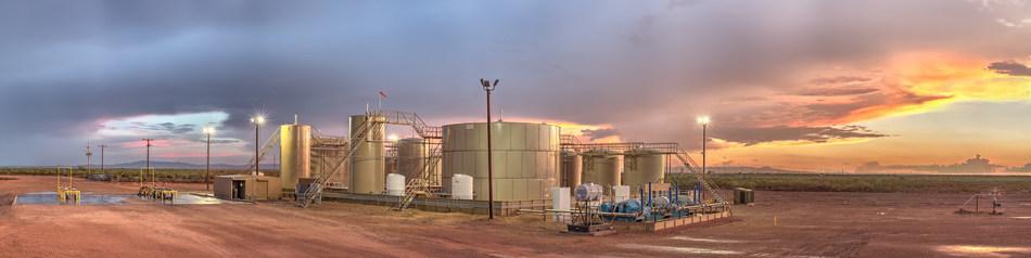 WaterBridge produced water handling facility.