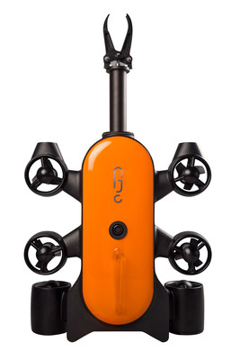 The first diving drone equipped with the robotic arm