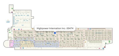 Highpower International, Inc. booth location