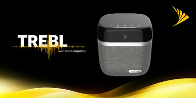 Sprint TREBL with Magic Box is the world's first smart home small cell solution providing enhanced LTE coverage, integrated Alexa voice assistant and exceptional Harman Kardon sound quality.