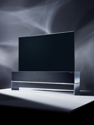 The LG SIGNATURE OLED TV R (model 65R9) reimagines the everyday TV with a revolutionary form factor only made possible by the company's industry-leading OLED technology, boasting picture and sound quality that is second to none.