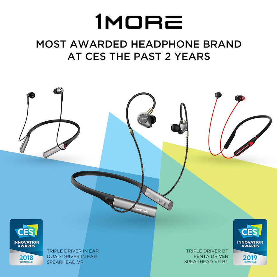 1MORE Headphones - The Most Awarded Headphone Brand At CES