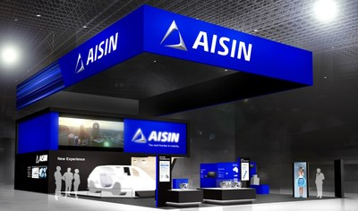 Rendering of the AISIN Group  CES 2019 Exhibit