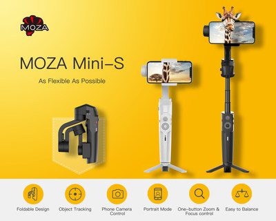 Gudsen MOZA Reveals the New MOZA Mini-S Smartphone Gimbal at CES 2019