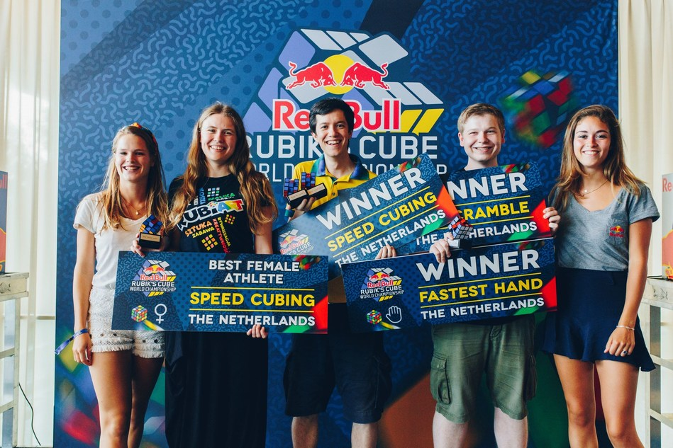 2018 saw the introduction of the Red Bull Rubik's World Cup (Credit www.Rubiks.com) (PRNewsfoto/Rubik's Brand Ltd)