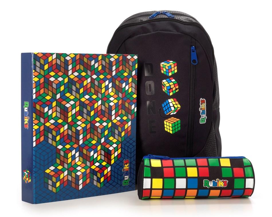 Merchandise featuring the Rubik's Cube (credit www.Rubiks.com) (PRNewsfoto/Rubik's Brand Ltd)