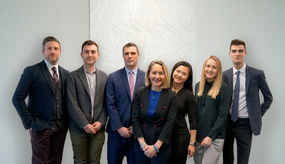 From left to right: Tim Butters, Director; Max Stern, Consultant; Luc Levasseur, Vice-President and Corporate Affairs practice lead; Jane Taber, Vice-President; Rachel Lee, Coordinator; Chloe Mills, Consultant; and Troy Aharonian, Coordinator. (CNW Group/NATIONAL Public Relations - Toronto)