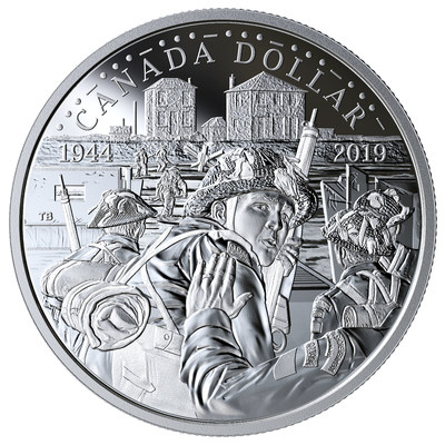 The Royal Canadian Mint honours bravery and sacrifice by dedicating its 2019 Proof Silver Dollar to the 75th Anniversary D-Day