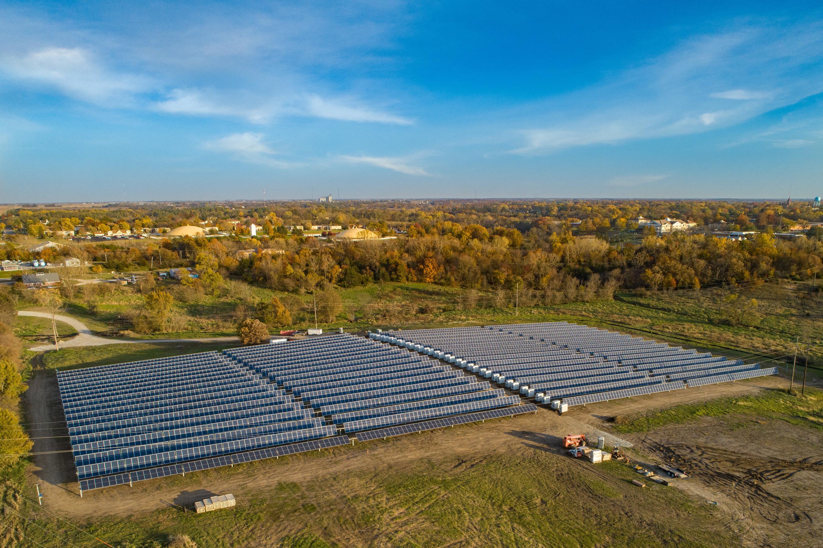 Iowa's first solar & storage power plant at Maharishi Universtiy of Management