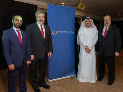 L to R: Ahmad Mhanna, ACI Middle East Regional Director; David A. Lange, ACI President; Hassan Al Hashemi, Vice President, International Relations, Dubai Chamber of Commerce & Industry; and Ronald G. Burg, ACI Executive Vice President, welcome guests to the ACI Middle East Regional Office grand opening in Dubai, UAE, on January 6, 2019.