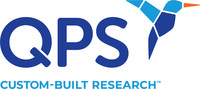 The new QPS logo incorporates a hummingbird icon, which embodies the key attributes of nimble, agile, flexible and speedy. The tag line 'Custom-Built Research' is ideal to support the company's rebranding efforts as it represents the broad set of services that QPS delivers to clients globally. (PRNewsfoto/QPS)