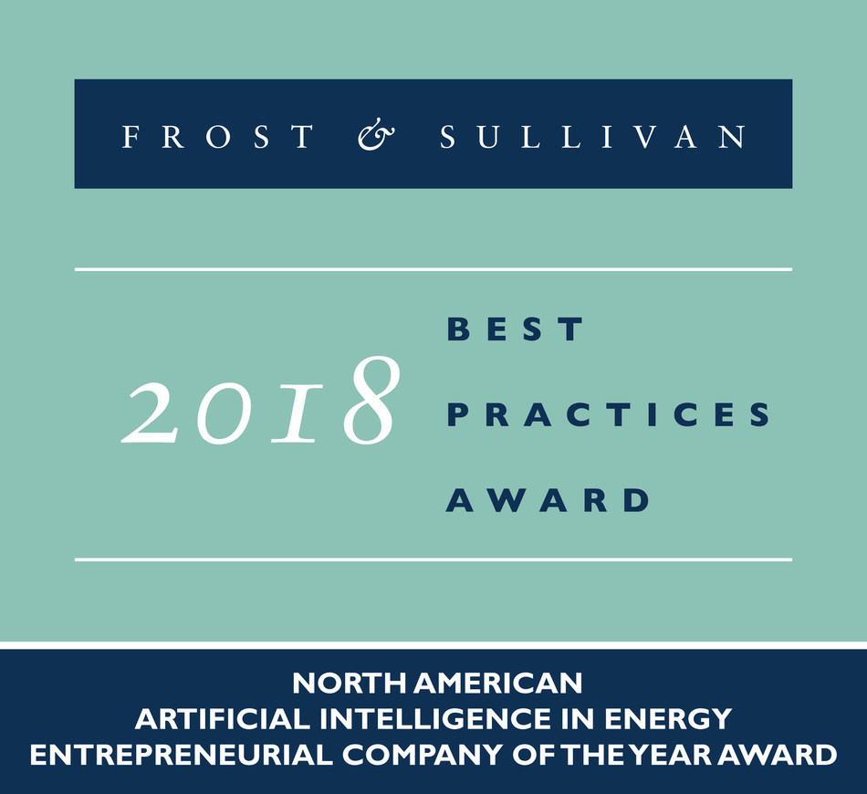 2018 North American Artificial Intelligence in Energy Entrepreneurial Company of the Year Award (PRNewsfoto/Frost & Sullivan)