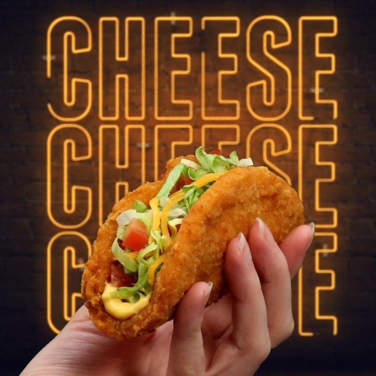 The Nacho Cheese Naked Chicken Chalupa, available now at Taco Bell Canada. (CNW Group/Taco Bell Canada)