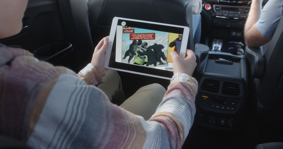 Honda Dream Drive: Passenger app offers passengers the ability to play mixed reality games, watch movies, listen to music, read original comics stories, use travel applications, explore new points of interest along the route, and control the radio and cabin features – all from the passenger's mobile device.
