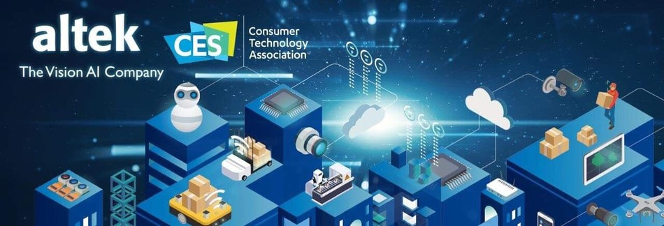 As the edge vision AI solution provider, Altek Corp. (3059 TT), is introducing three key focusing technology at CES 2019 including Vision AI chips, AI commercial surveillance cameras, and 3D depth image sensing modules with the theme of 'Bringing Vision AI to The Edge.'