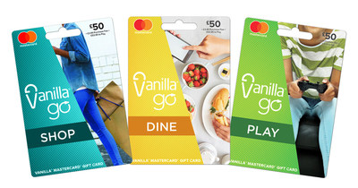 Vanilla Go cards that can be found in national retailers