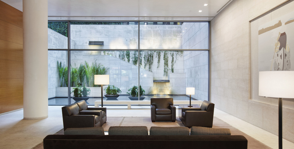 Lobby of the Centurion Condominium at 33 West 56th Street by I.M. Pei (PRNewsFoto/The Centurion Condominium)