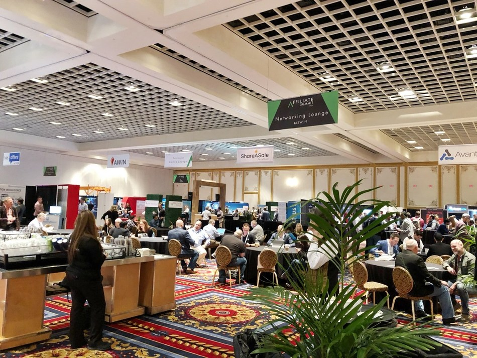 Networking lounge in exhibtion hall