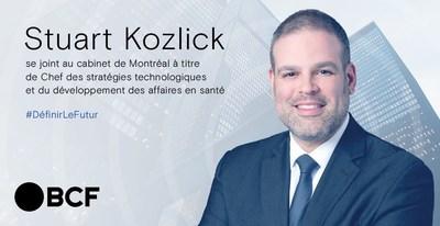 Stuart Kozlick, chef des stratégies technologiques et du développement des affaires en santé de BCF. (Groupe CNW/BCF)