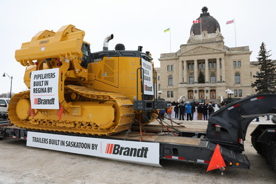 Brandt's BPL220K on site at Rally in Regina for Canadian Resources this Tuesday (CNW Group/Brandt Tractor Ltd.)