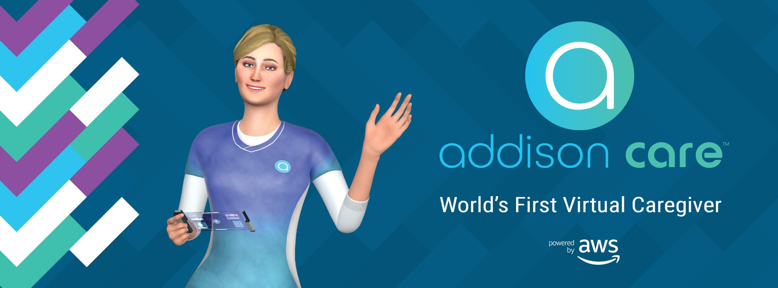 Addison, of Addison Care, the World's First Virtual Caregiver is debuting at CES 2019.