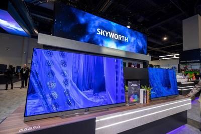 Le nouveau téléviseur OLED 65S9A/XA9000 de Skyworth (PRNewsfoto/Skyworth)