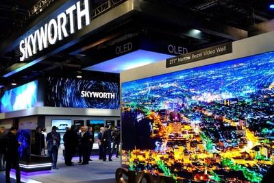 Estande de exibição da Skyworth no CES2019 (PRNewsfoto/Skyworth)