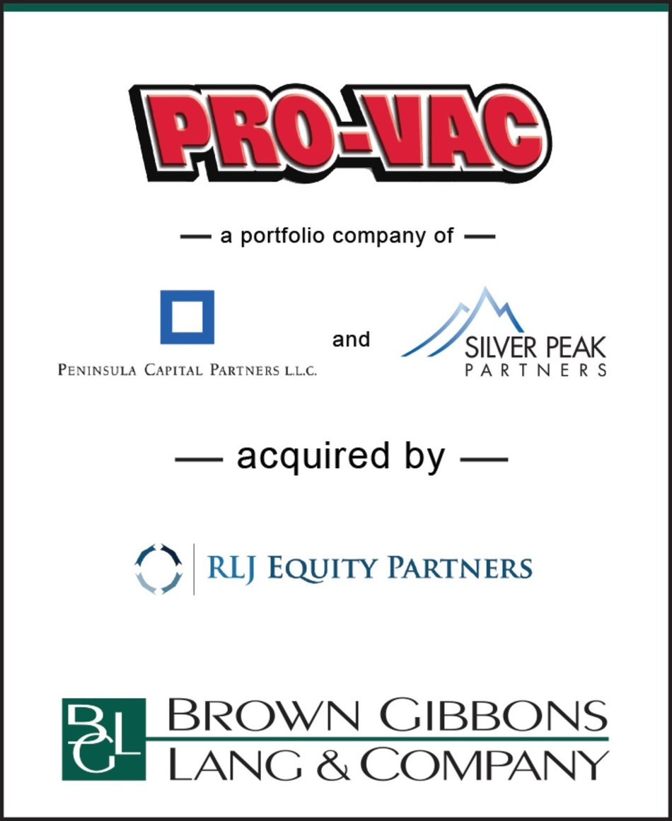 Brown Gibbons Lang & Company (BGL) is pleased to announce the sale of Olson Brothers Pro-Vac, LLC (Pro-Vac), to RLJ Equity Partners, LLC.  BGL's Environmental & Industrial Services team served as the exclusive financial advisor to Pro-Vac in the transaction. Located in Puyallup, Washington, Pro-Vac is a leading environmental, infrastructure, and municipal services provider in the Pacific Northwest.
