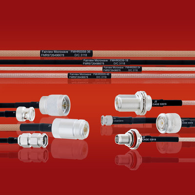 Fairview Microwave Introduces New MIL-DTL-17 Cable Assemblies with Test Data and Same Day Shipping