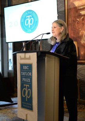 Chair of RBC Taylor Prize Noreen Taylor at the announcement of the 2019  RBCTP short list at the Omni King Edward Hotel. Photo: Tom Sandler RBCTP (CNW Group/RBC Taylor Prize)