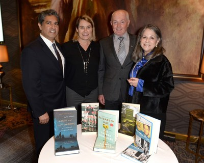 RBC's Vijay Parmar, Juror's Camilla Gibb and Roy MacGregor with Chair of RBC Taylor Prize Noreen Taylor at the announcement of the 2019  RBCTP short list at the Omni King Edward Hotel. Photo: Tom Sandler RBCTP (CNW Group/RBC Taylor Prize)